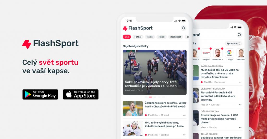 Nová česká aplikace sportovního zpravodajství FlashSport